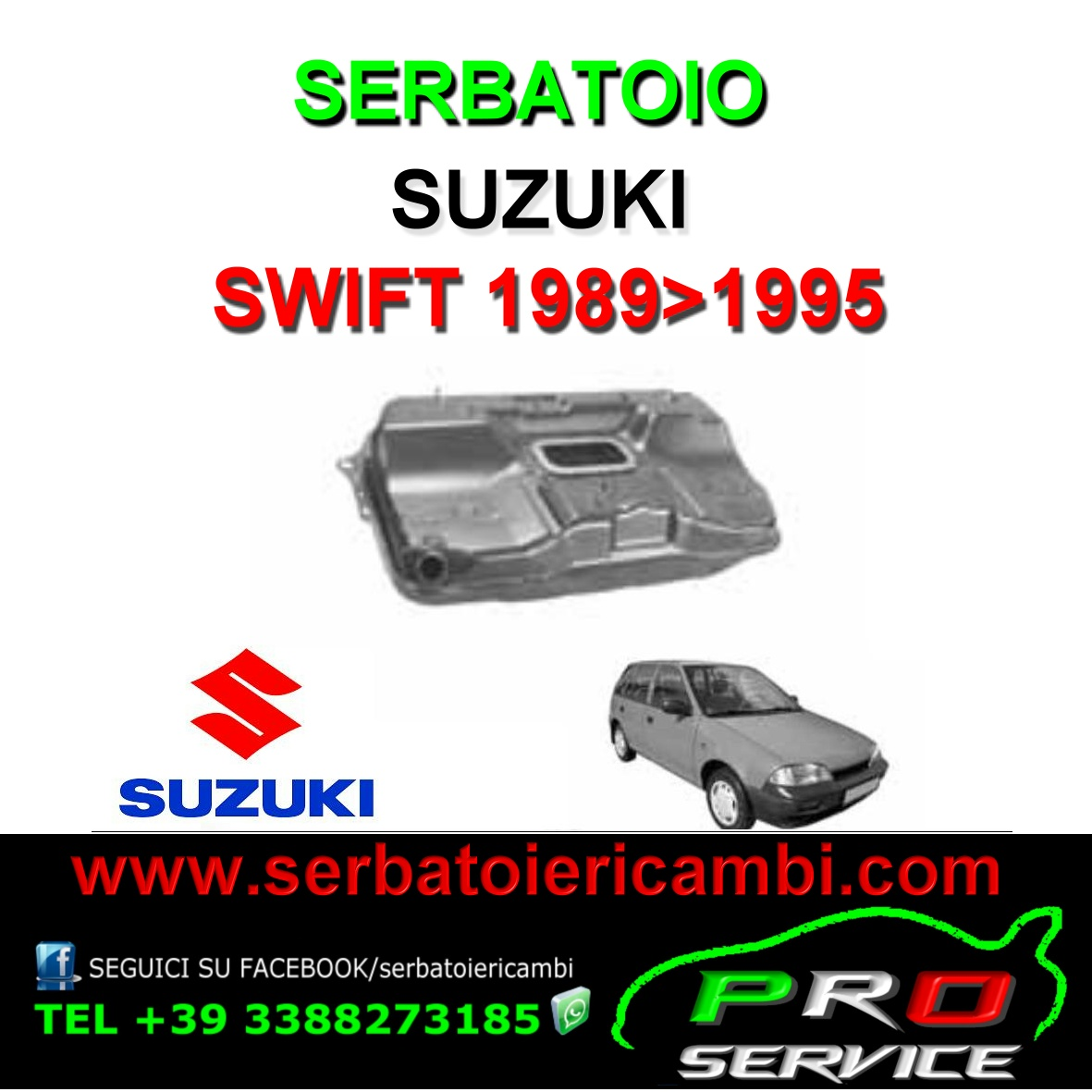 Suzuki Swift Fuel Tank 1989-1995