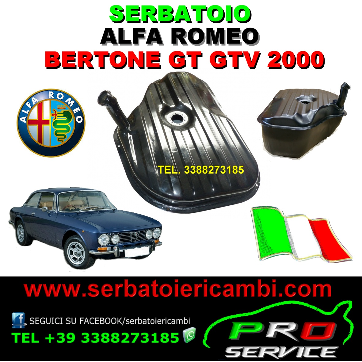 Serbatoio Alfa Romeo GIULIA GT GTV 2000 BERTONE 1967-1974
